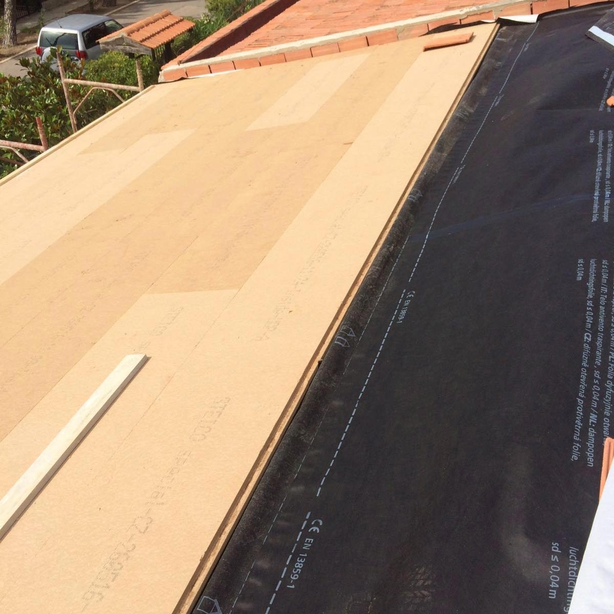 Wood fiber FiberTherm Special pitched roof insulation